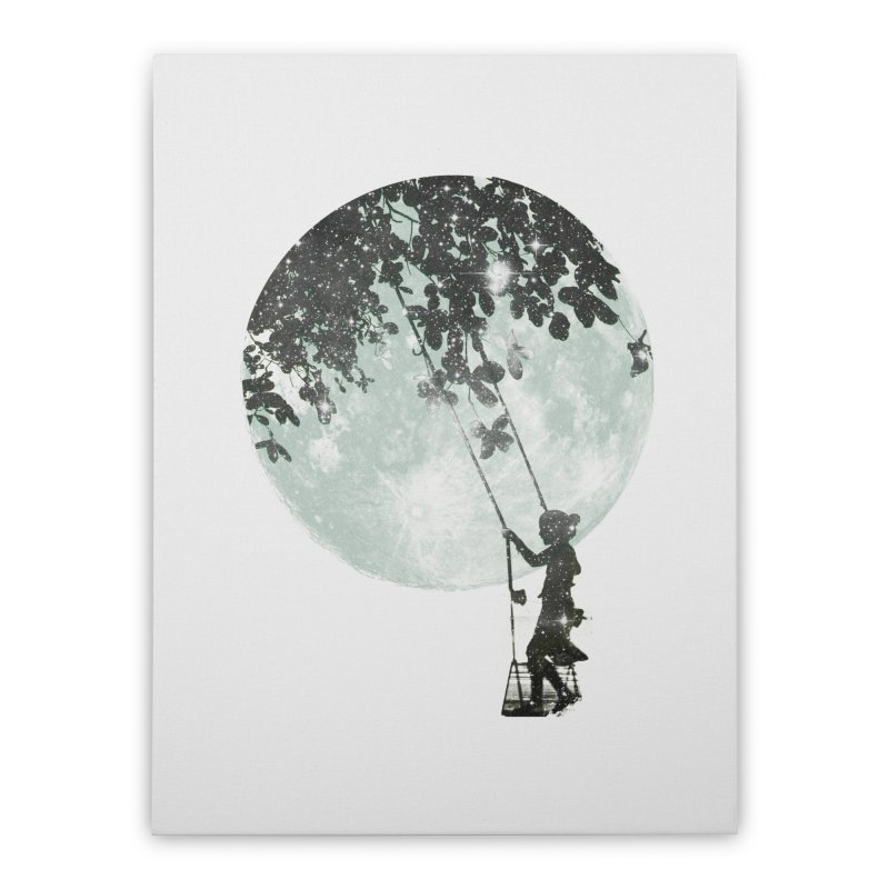 Swing Around Home Stretched Canvas by Misterdressup