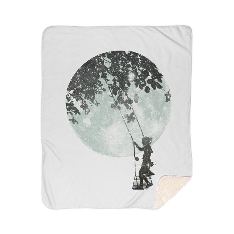 Swing Around Home Sherpa Blanket Blanket by Misterdressup