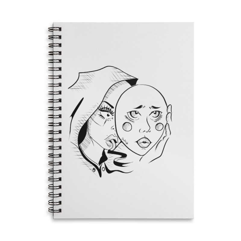 Ta A Accessories Lined Spiral Notebook by Misterdressup