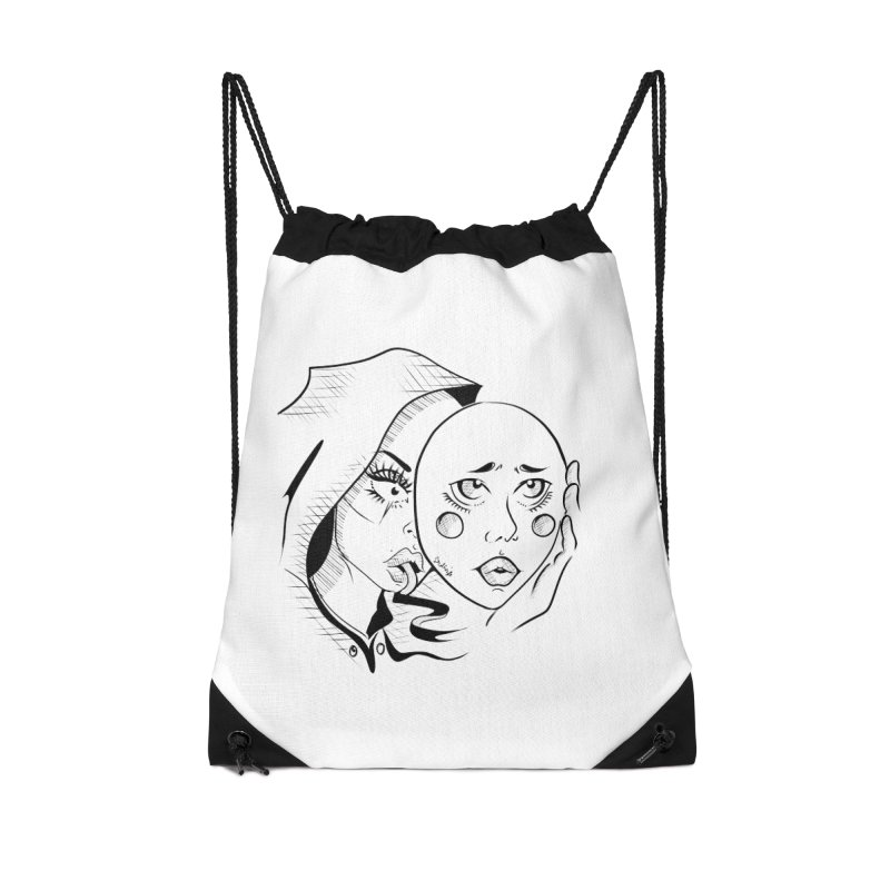 Ta A Accessories Drawstring Bag Bag by Misterdressup