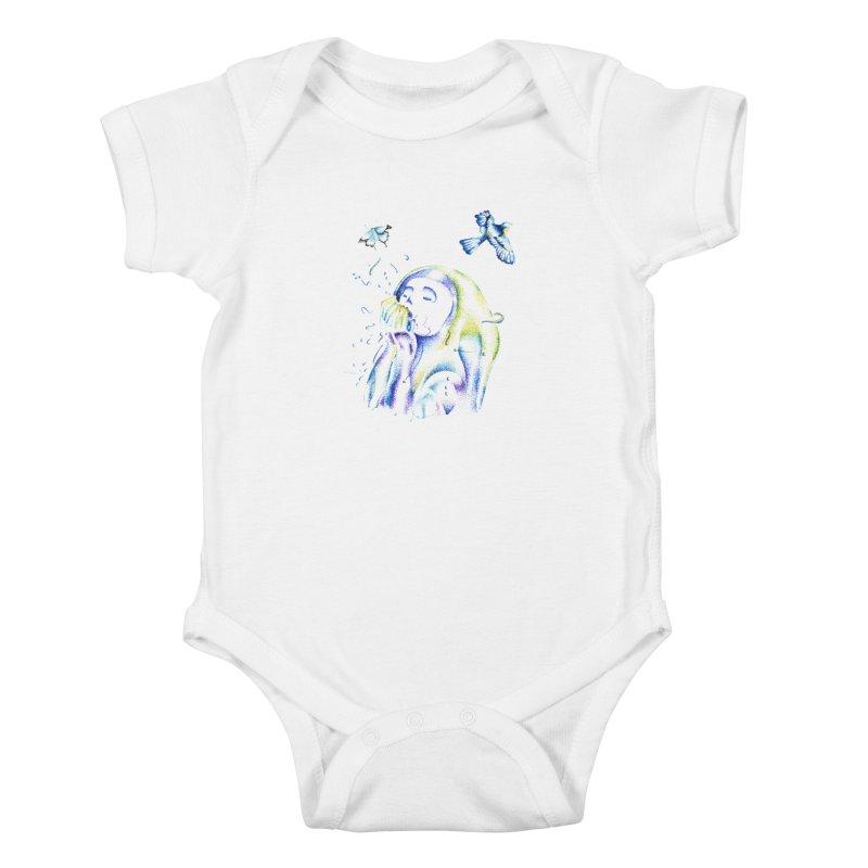 Aura Estrada Kids Baby Bodysuit by Misterdressup