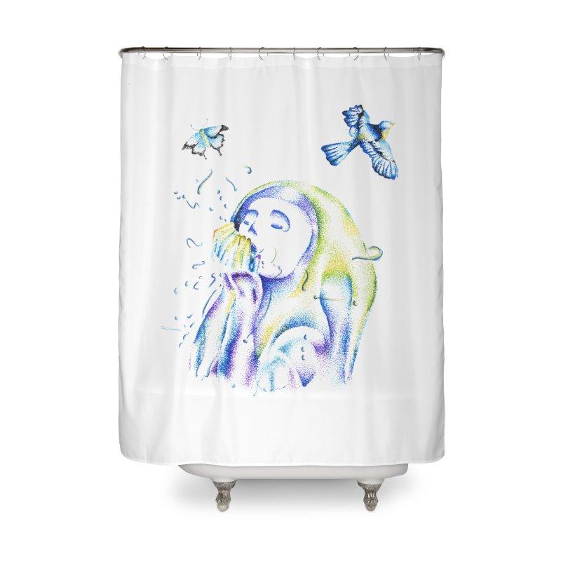 Aura Estrada Home Shower Curtain by Misterdressup