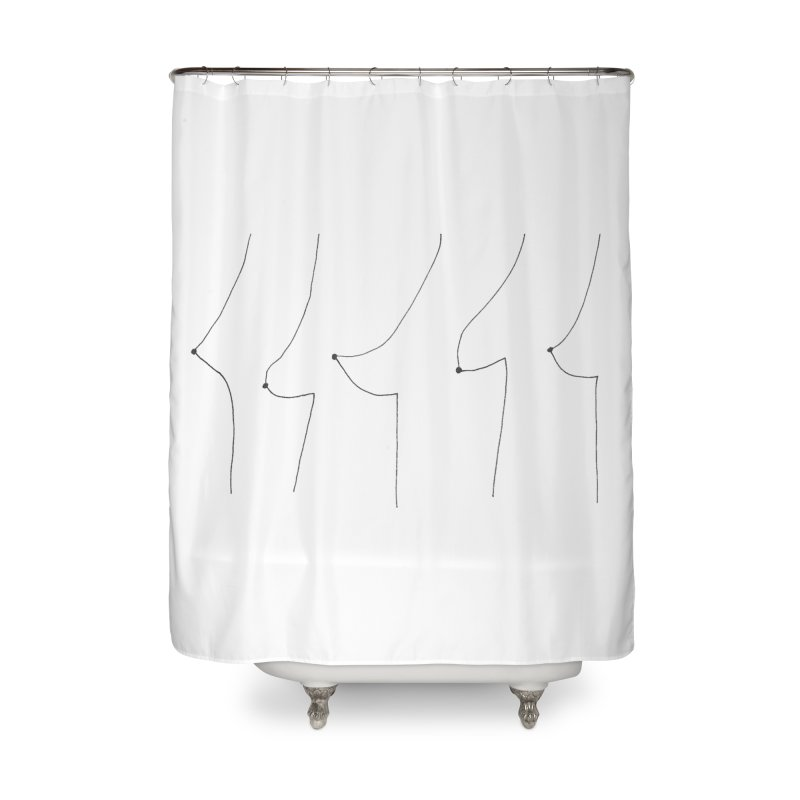 Coco Huang Home Shower Curtain by Misterdressup