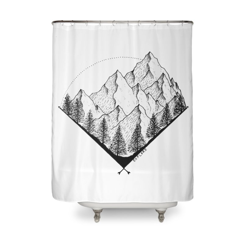 Varnika Marwah Home Shower Curtain by Misterdressup