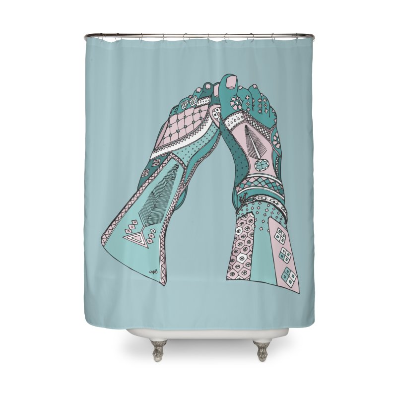 Tahere Home Shower Curtain by Misterdressup