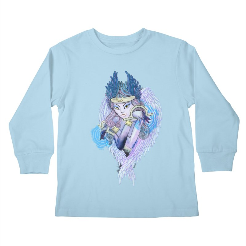 Stephanie Cavina Kids Longsleeve T-Shirt by Misterdressup