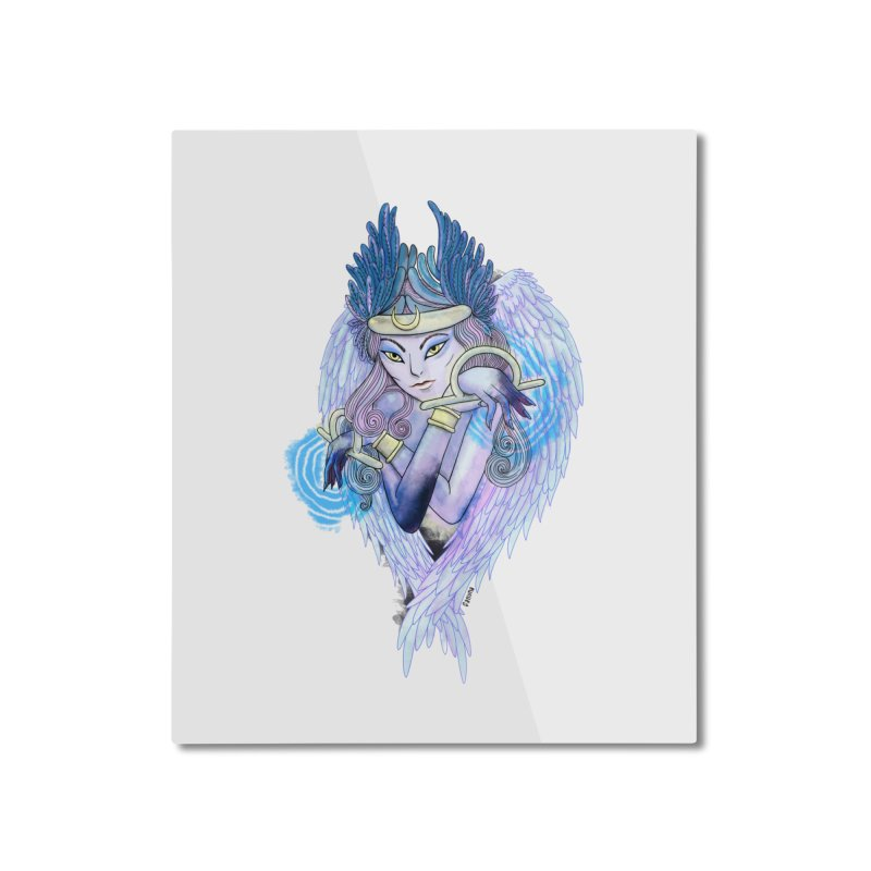 Stephanie Cavina Home Mounted Aluminum Print by Misterdressup