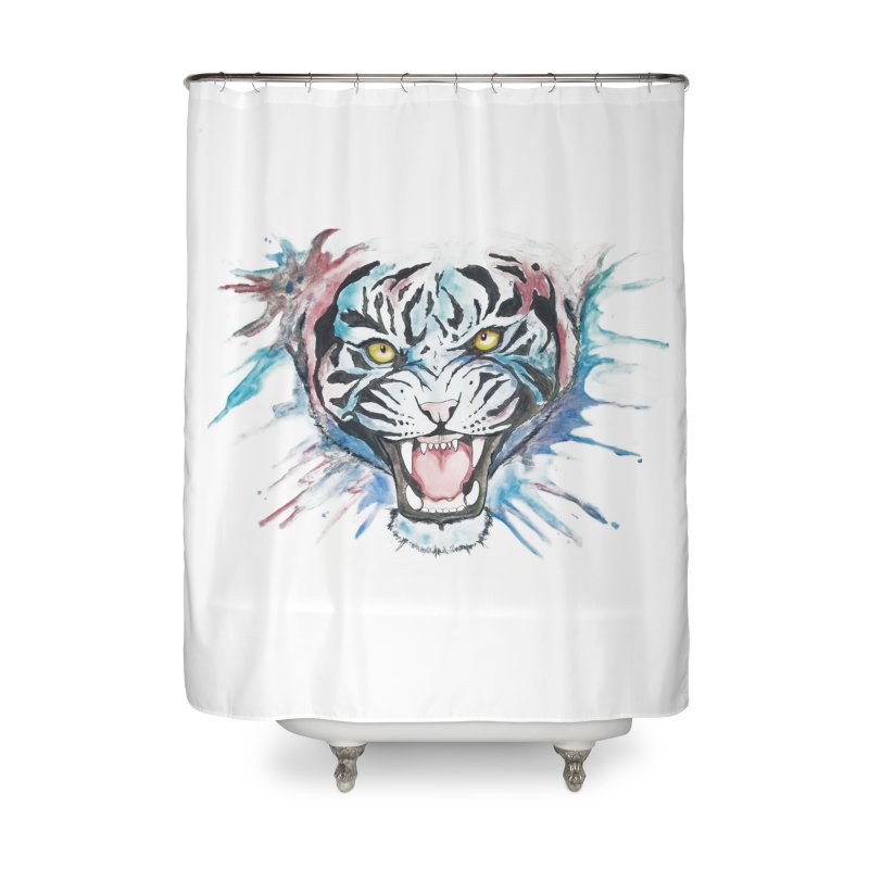 Bea Home Shower Curtain by Misterdressup