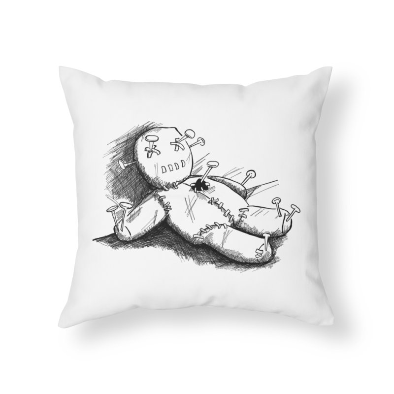 Keyla Rainbow Home Throw Pillow by Misterdressup