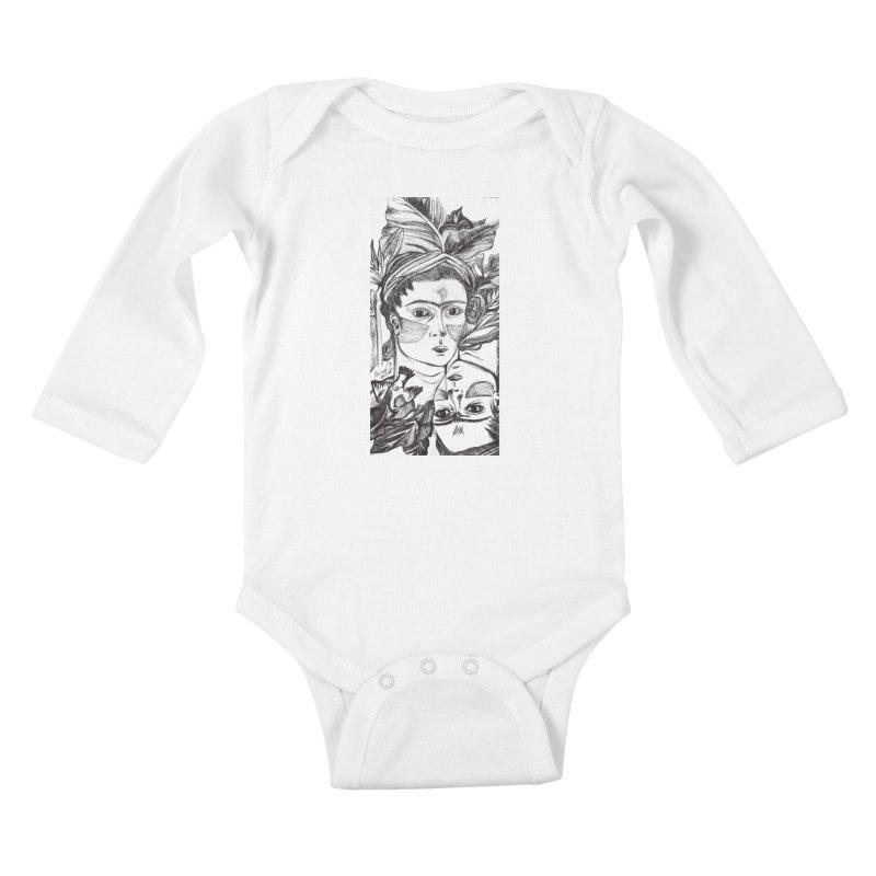 Parisa Talezadeh Kids Baby Longsleeve Bodysuit by Misterdressup