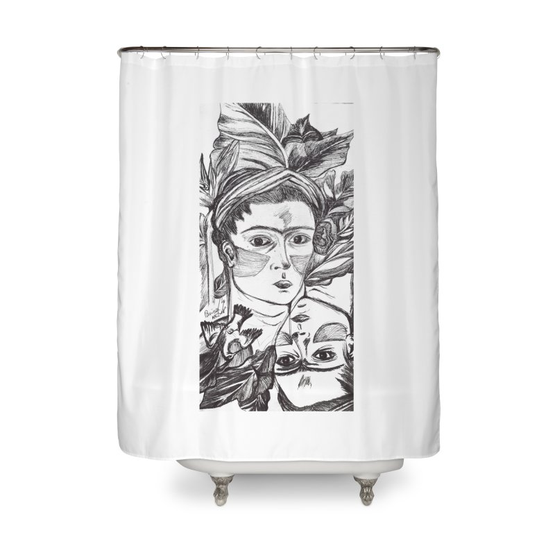 Parisa Talezadeh Home Shower Curtain by Misterdressup