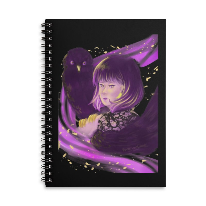 Dana Mapalad - 'Allure' Accessories Lined Spiral Notebook by Misterdressup