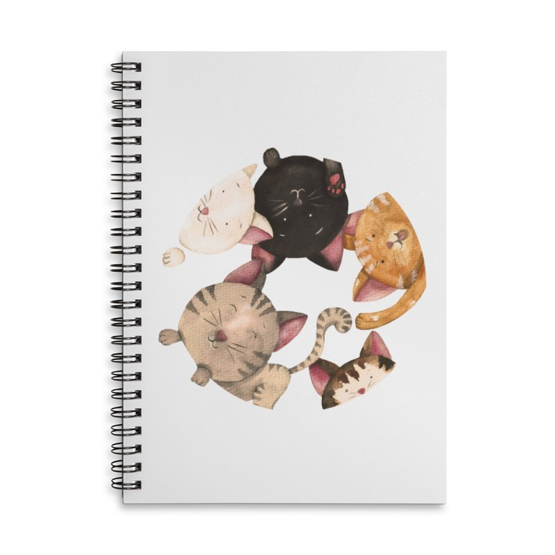 Paulina Wesolowska Accessories Lined Spiral Notebook by Misterdressup