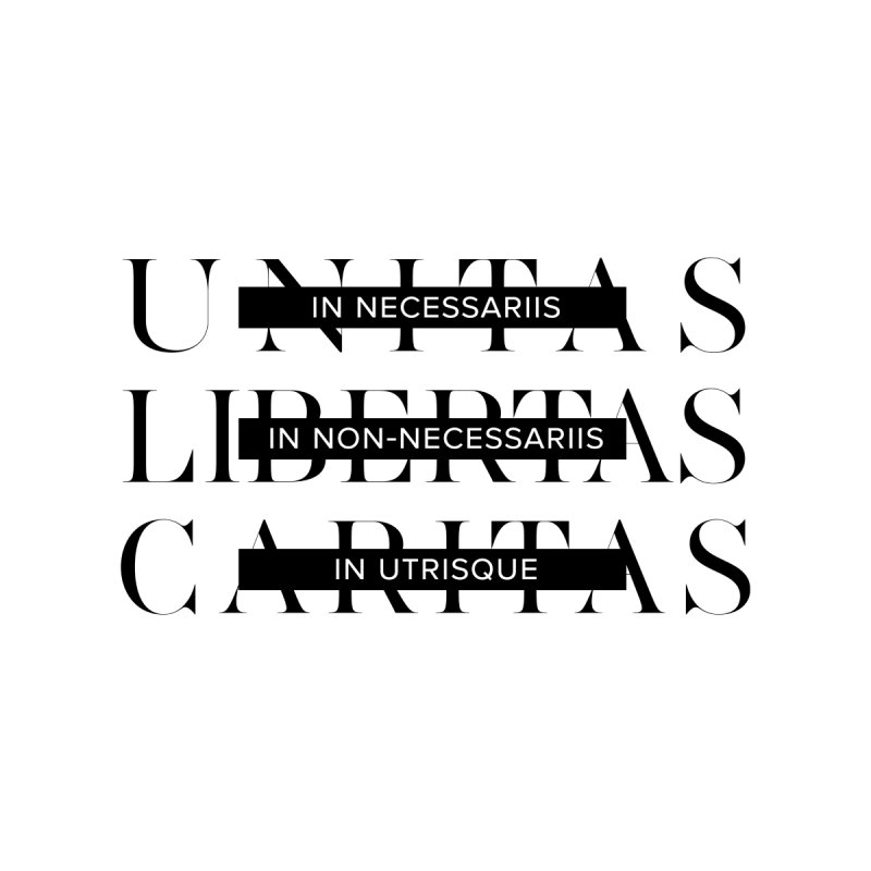 Unitas Libertas Caritas Men's Triblend T-Shirt by Mister Earl Grey