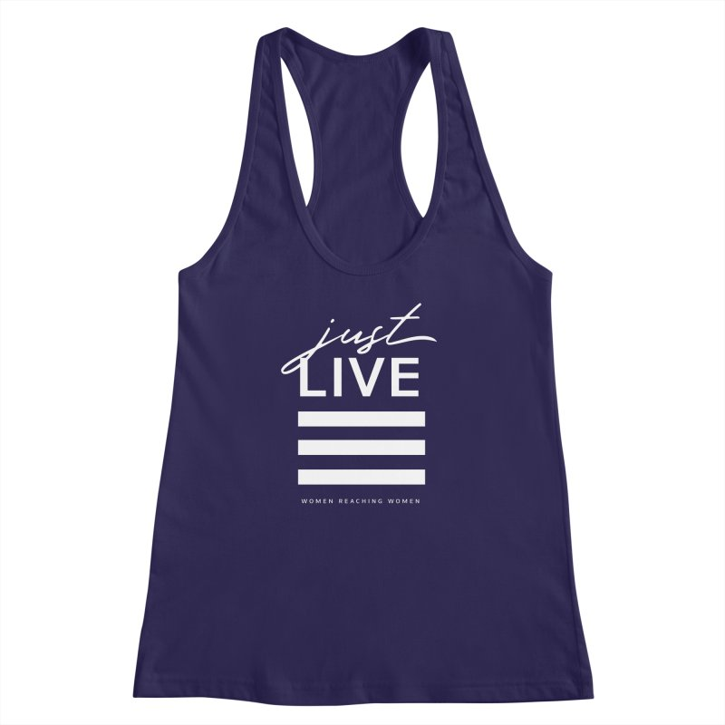 Just Live Women's Racerback Tank by Mister Earl Grey