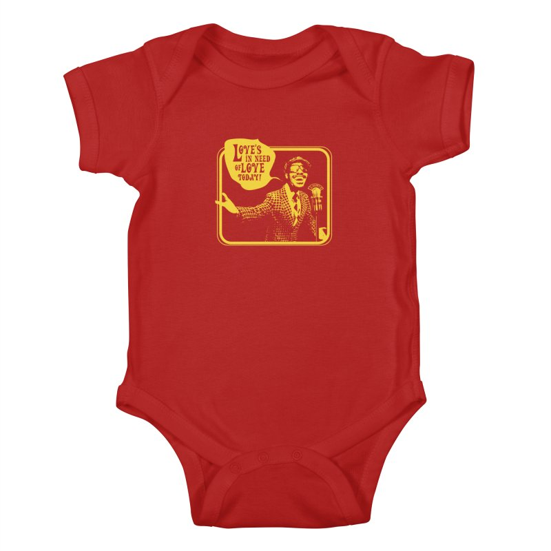 Your Friendly Announcer Kids Baby Bodysuit by Mister Earl Grey