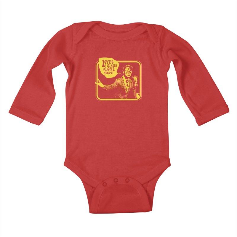 Your Friendly Announcer Kids Baby Longsleeve Bodysuit by Mister Earl Grey