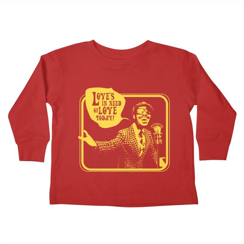 Your Friendly Announcer Kids Toddler Longsleeve T-Shirt by Mister Earl Grey