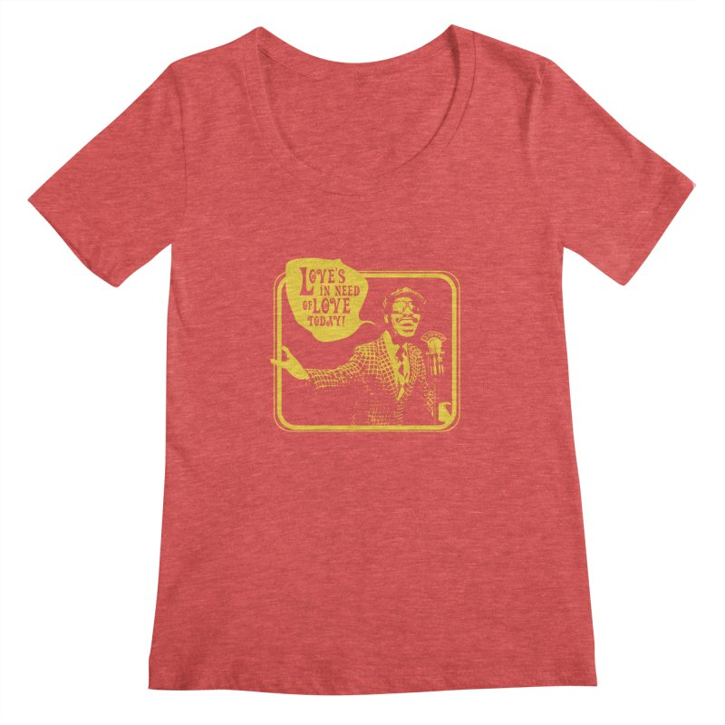 Your Friendly Announcer Women's Scoopneck by Mister Earl Grey