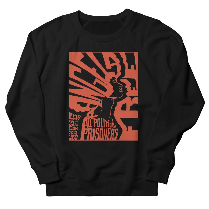 History Art Collective no.002: Free Angela Davis & All Political Prisoners in Women's Sweatshirt Black by Mister Earl Grey