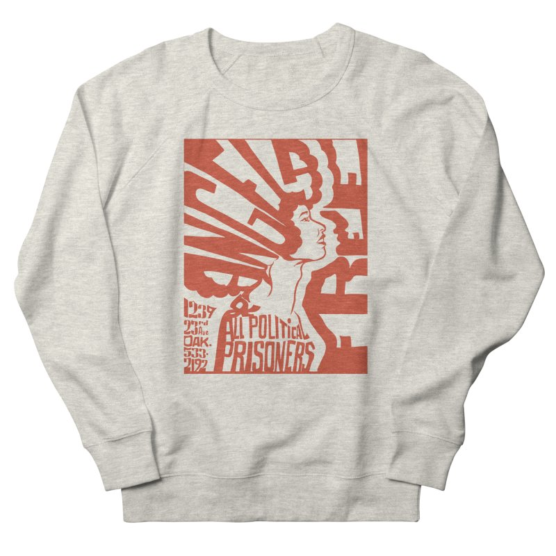 History Art Collective no.002: Free Angela Davis & All Political Prisoners in Men's Sweatshirt Heather Oatmeal by Mister Earl Grey