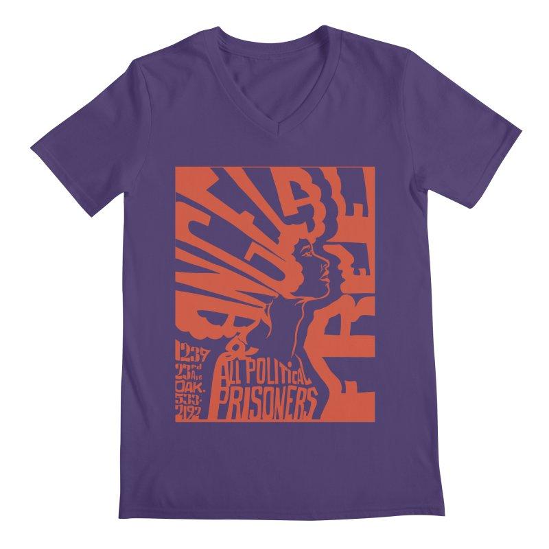 History Art Collective no.002: Free Angela Davis & All Political Prisoners Men's V-Neck by Mister Earl Grey