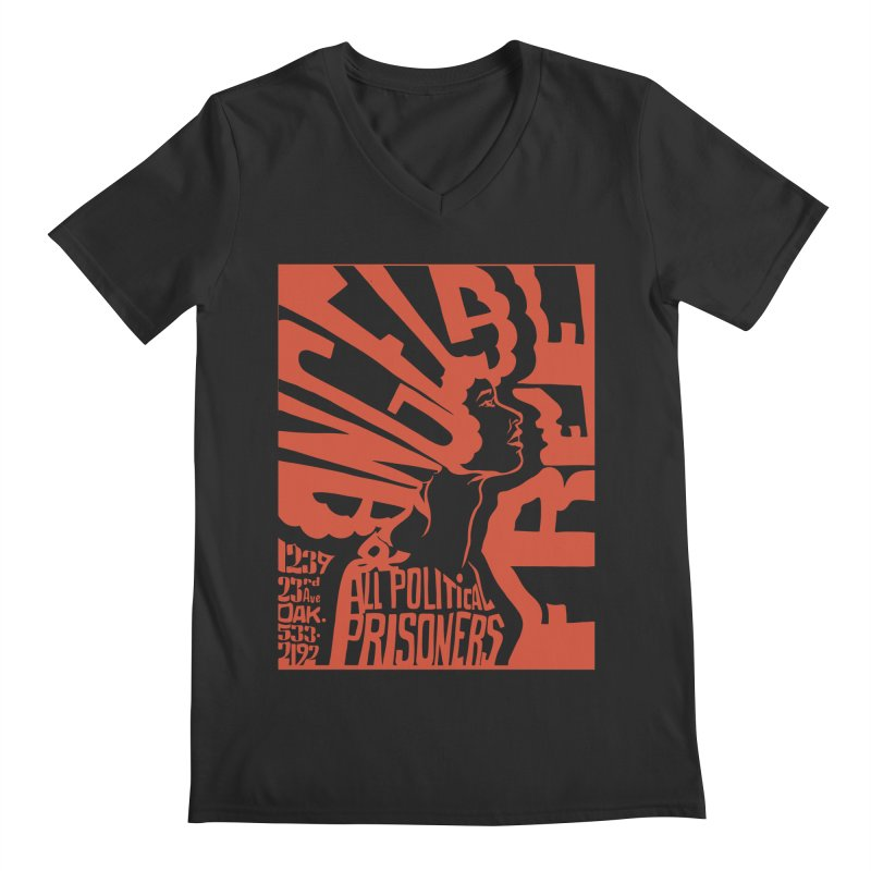 History Art Collective no.002: Free Angela Davis & All Political Prisoners Men's V-Neck by Mister Earl Grey