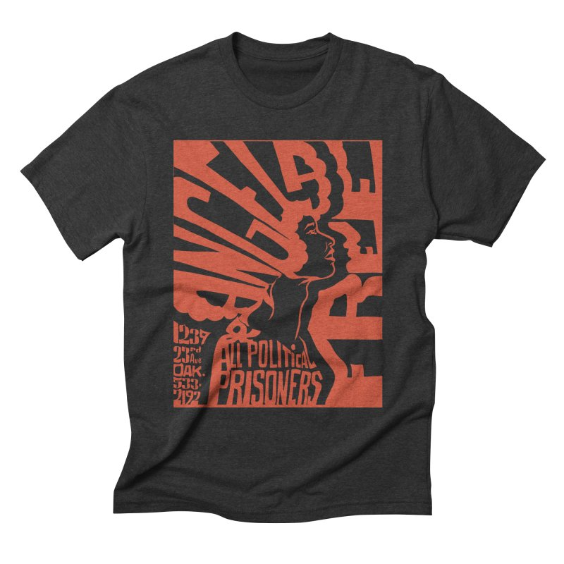 History Art Collective no.002: Free Angela Davis & All Political Prisoners Men's Triblend T-shirt by Mister Earl Grey