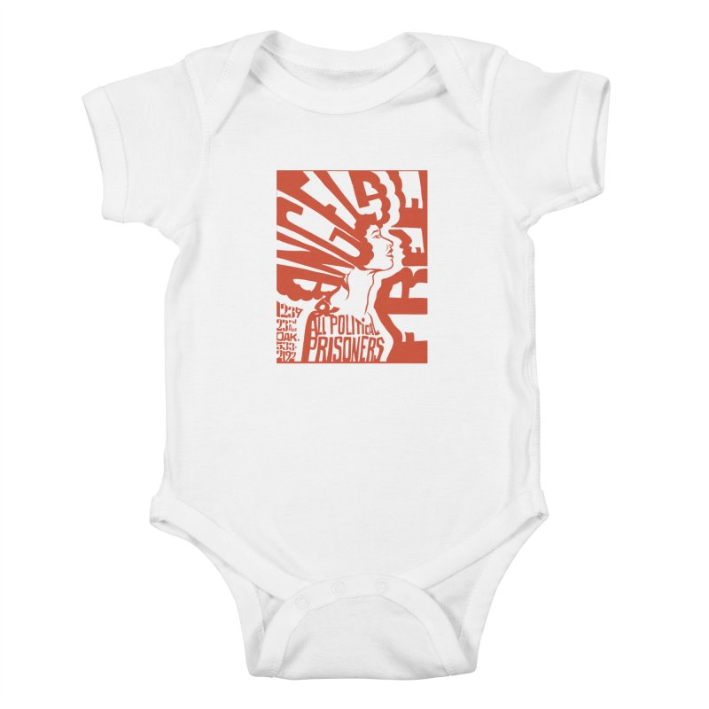 History Art Collective no.002: Free Angela Davis & All Political Prisoners Kids Baby Bodysuit by Mister Earl Grey