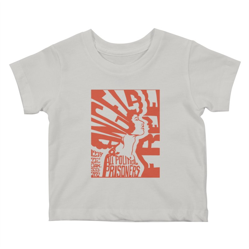 History Art Collective no.002: Free Angela Davis & All Political Prisoners Kids Baby T-Shirt by Mister Earl Grey
