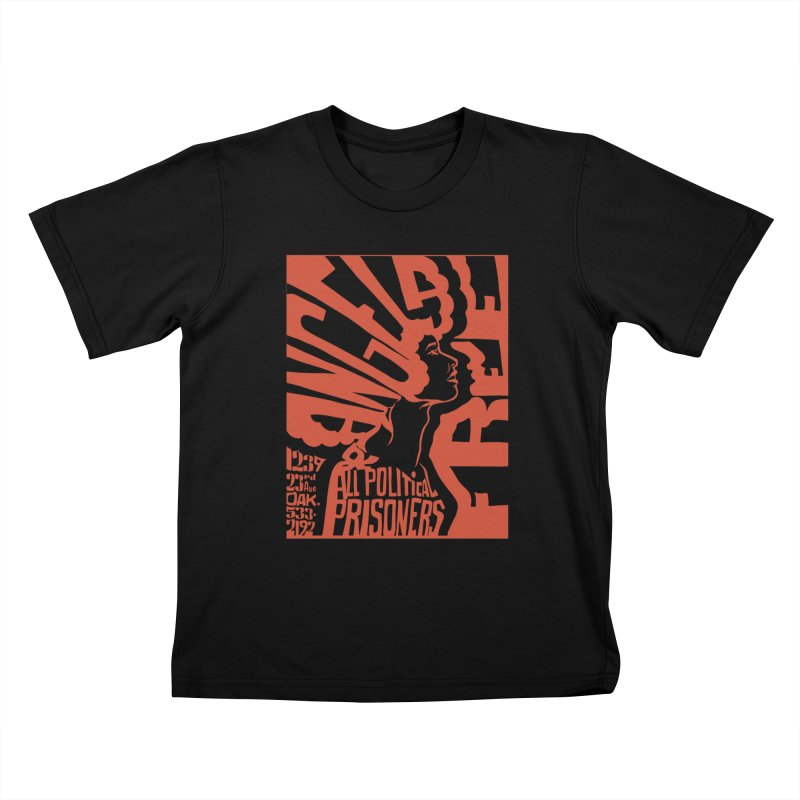 History Art Collective no.002: Free Angela Davis & All Political Prisoners Kids T-shirt by Mister Earl Grey