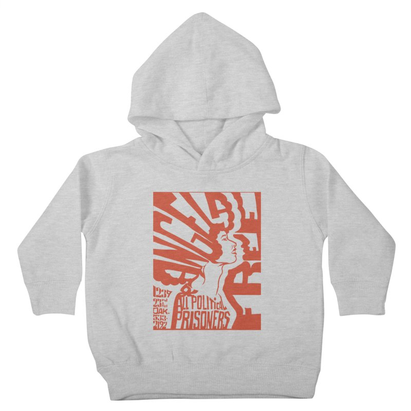 History Art Collective no.002: Free Angela Davis & All Political Prisoners Kids Toddler Pullover Hoody by Mister Earl Grey