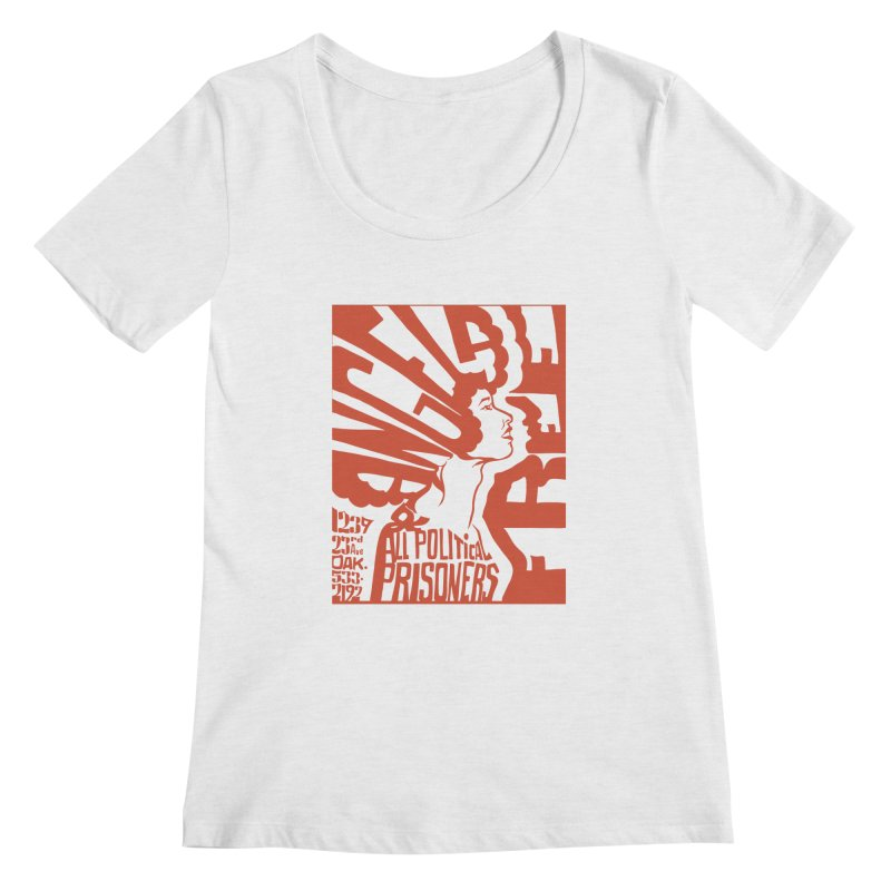History Art Collective no.002: Free Angela Davis & All Political Prisoners Women's Scoopneck by Mister Earl Grey