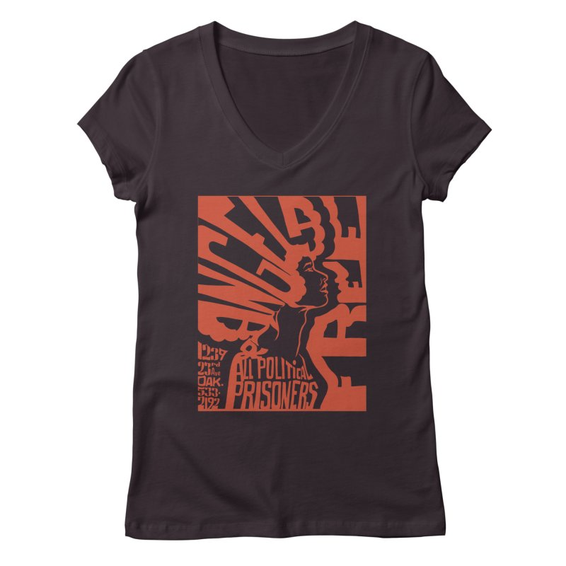 History Art Collective no.002: Free Angela Davis & All Political Prisoners Women's V-Neck by Mister Earl Grey