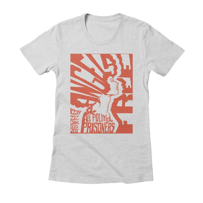 History Art Collective no.002: Free Angela Davis & All Political Prisoners Women's Fitted T-Shirt by Mister Earl Grey