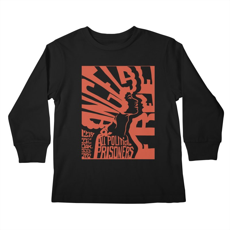 History Art Collective no.002: Free Angela Davis & All Political Prisoners Kids Longsleeve T-Shirt by Mister Earl Grey