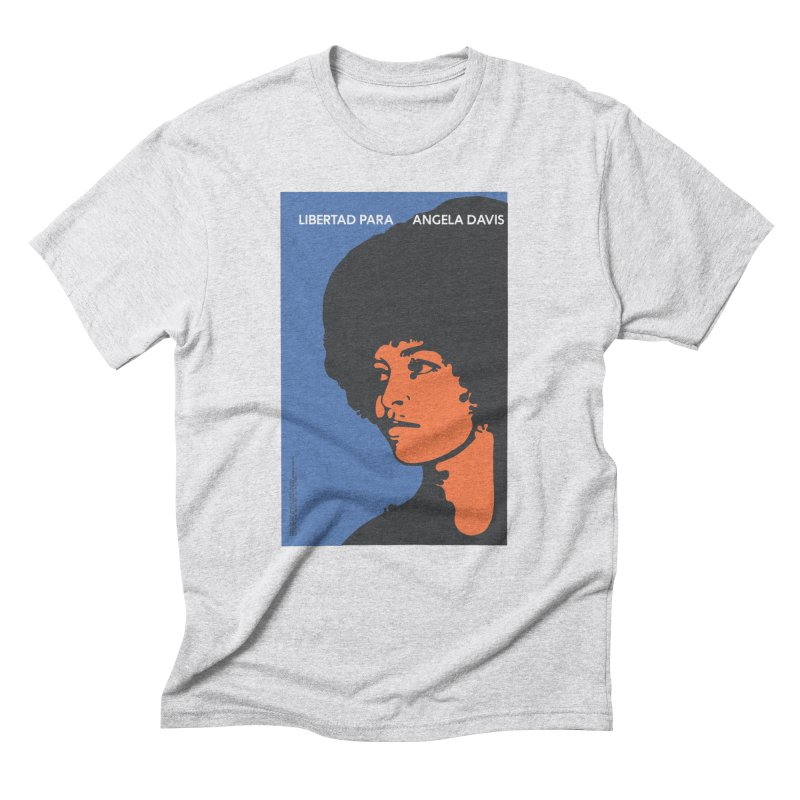 History Art Collective no.003: Libertad Para Angela Davis in Men's Triblend T-shirt Heather White by Mister Earl Grey
