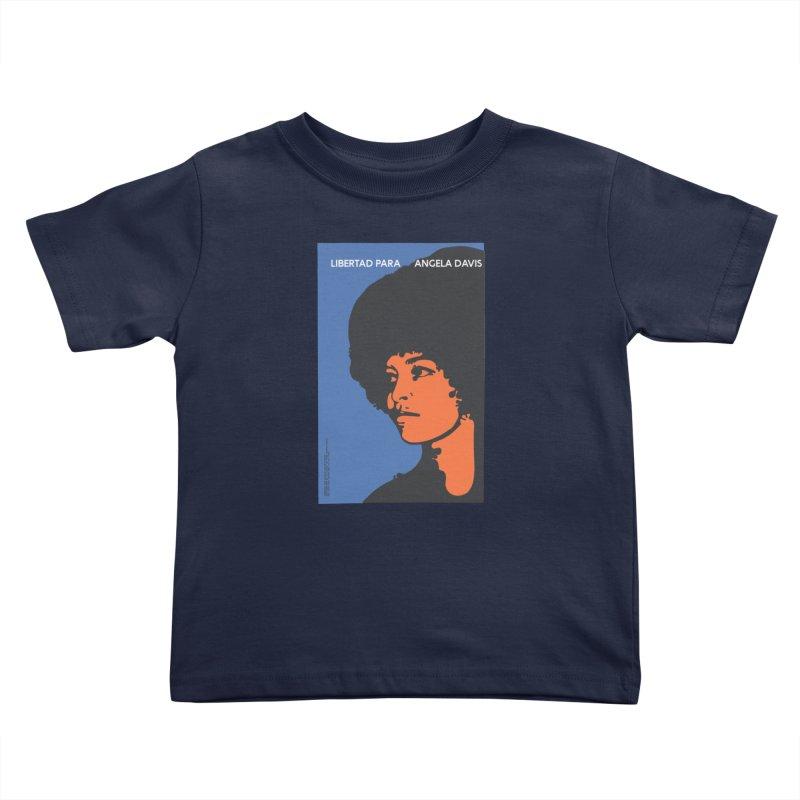 History Art Collective no.003: Libertad Para Angela Davis Kids Toddler T-Shirt by Mister Earl Grey