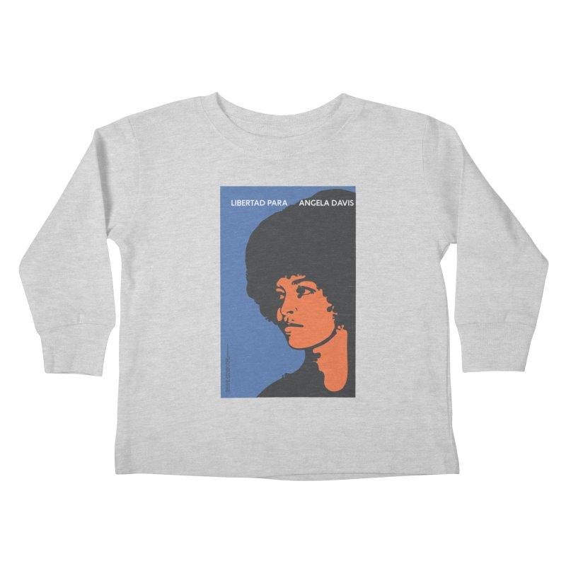 History Art Collective no.003: Libertad Para Angela Davis Kids Toddler Longsleeve T-Shirt by Mister Earl Grey