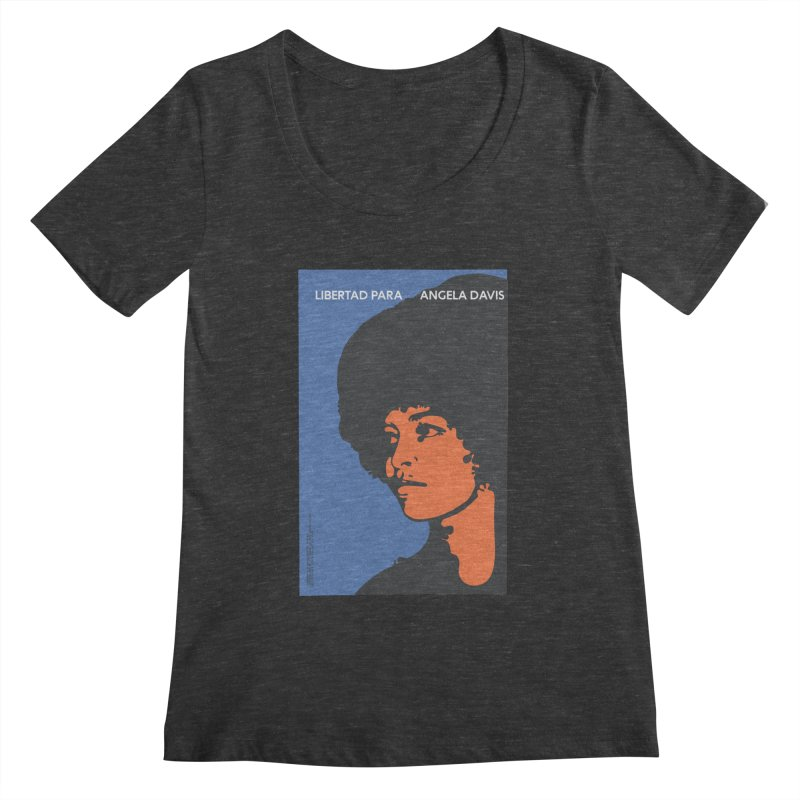 History Art Collective no.003: Libertad Para Angela Davis Women's Scoopneck by Mister Earl Grey