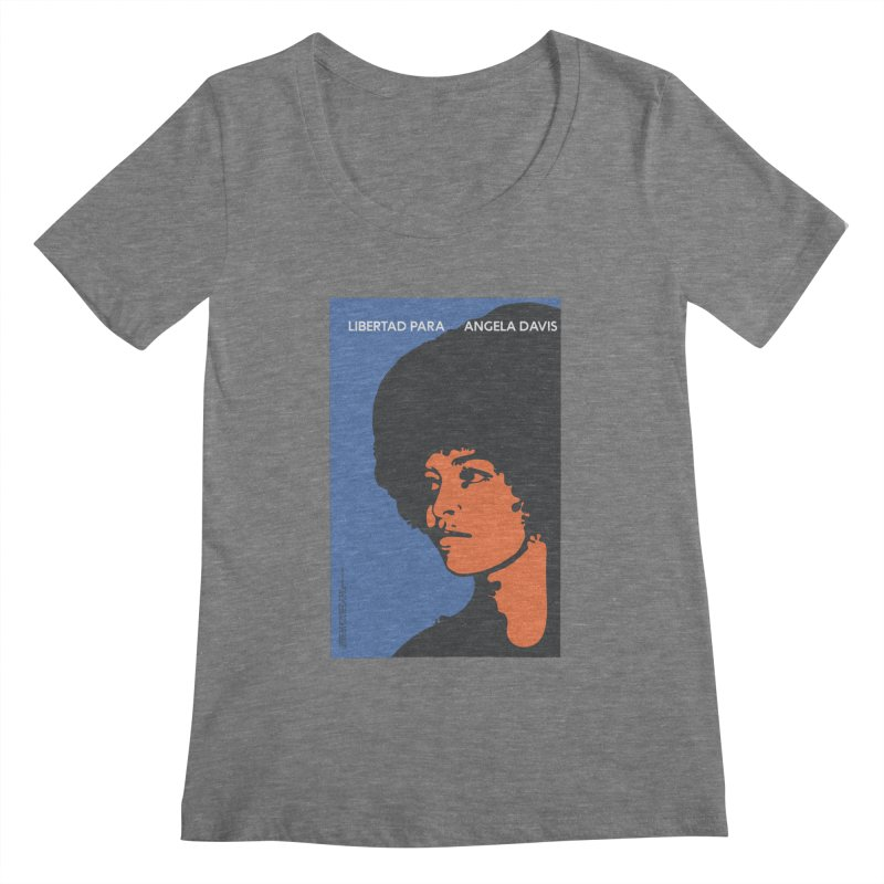 History Art Collective no.003: Libertad Para Angela Davis Women's Scoopneck by Mister Earl Grey