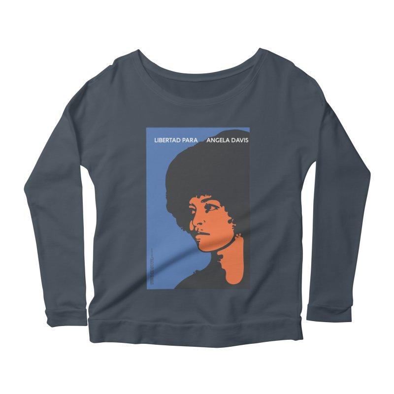 History Art Collective no.003: Libertad Para Angela Davis Women's Longsleeve Scoopneck  by Mister Earl Grey