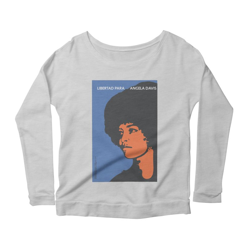 History Art Collective no.003: Libertad Para Angela Davis Women's Longsleeve Scoopneck  by Mister Earl Grey