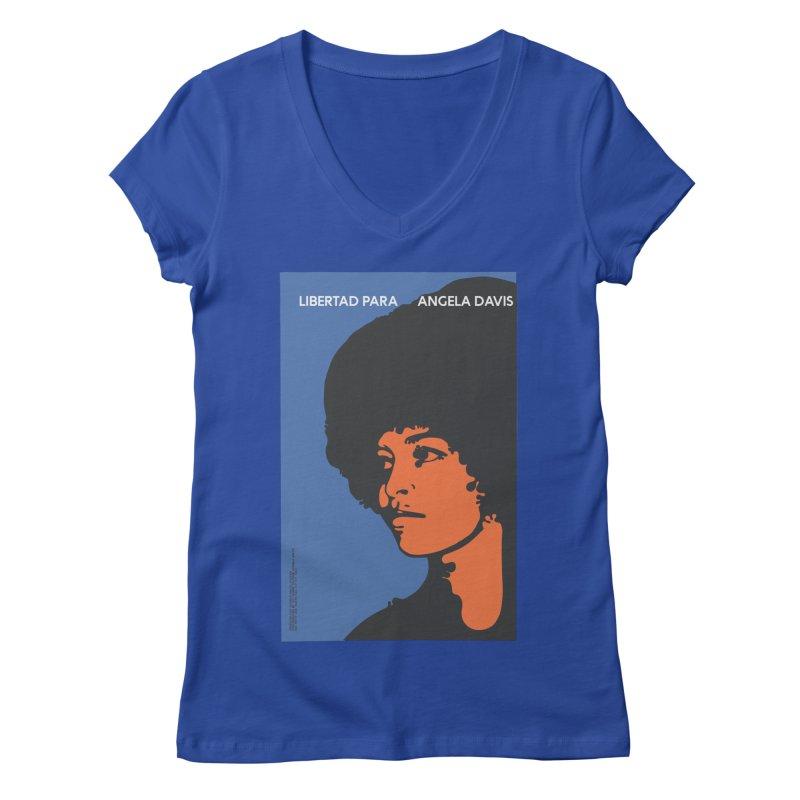 History Art Collective no.003: Libertad Para Angela Davis Women's V-Neck by Mister Earl Grey