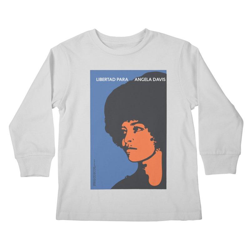 History Art Collective no.003: Libertad Para Angela Davis Kids Longsleeve T-Shirt by Mister Earl Grey