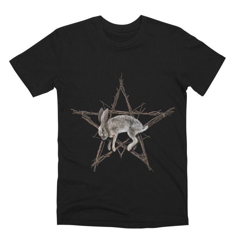 THE WICKER BUNNY Men's T-Shirt by The Dark Arts of Mister Sam Shearon