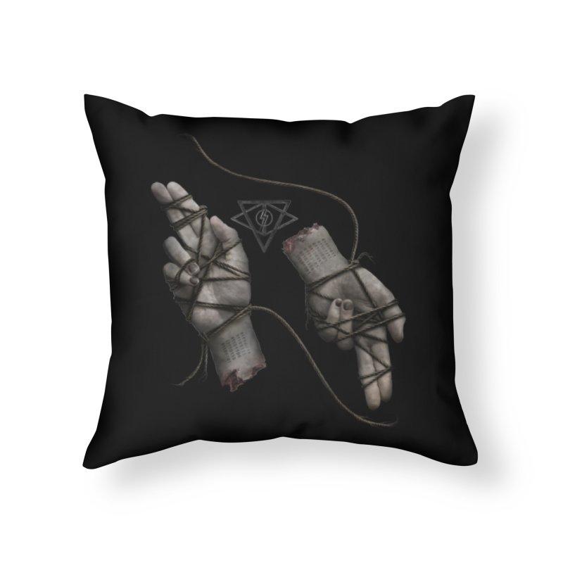 BAPHO-MECH-HANDS Home Throw Pillow by The Dark Arts of Mister Sam Shearon