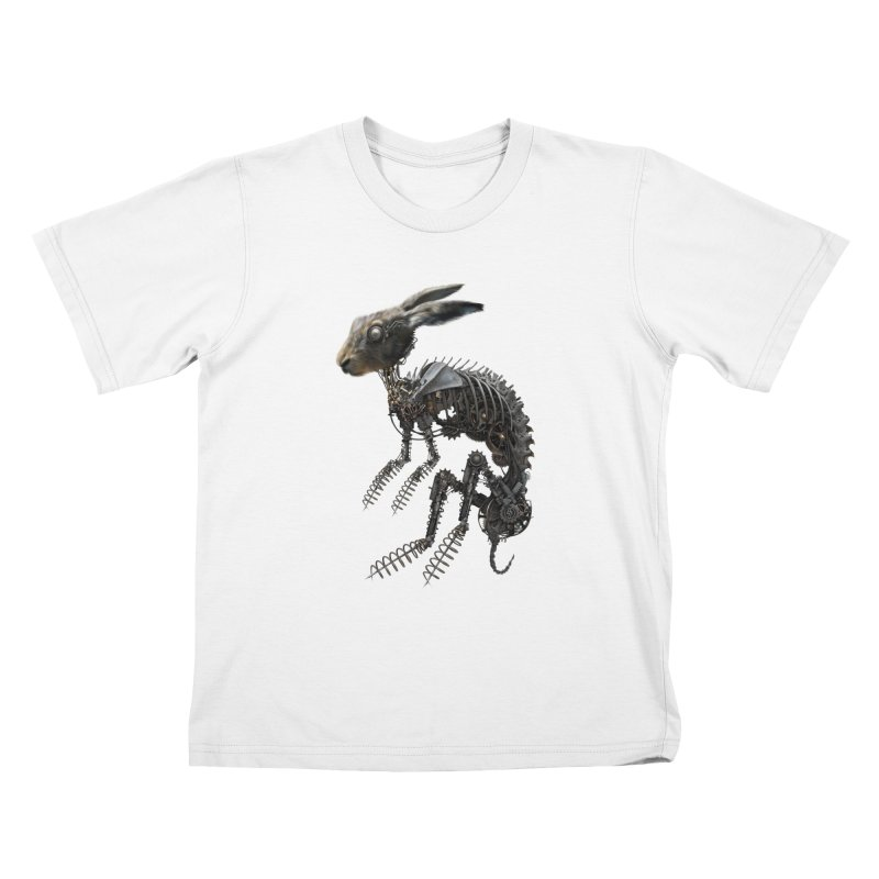 SPRING HARE Kids T-Shirt by The Dark Arts of Mister Sam Shearon
