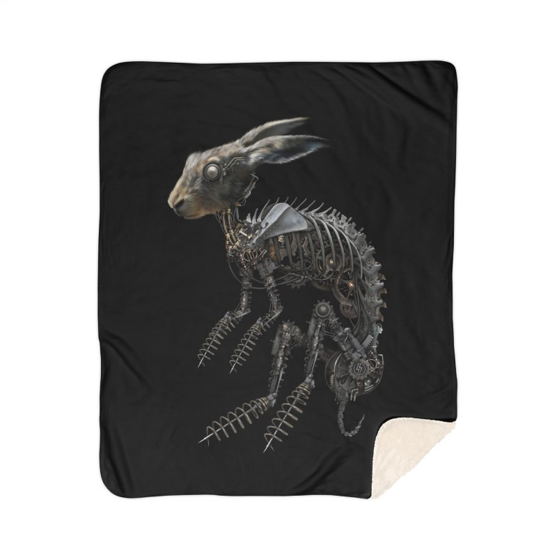 SPRING HARE Home Blanket by The Dark Arts of Mister Sam Shearon