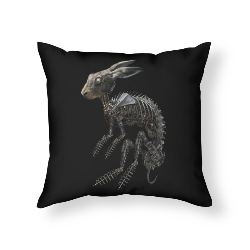 SPRING HARE in Throw Pillow by